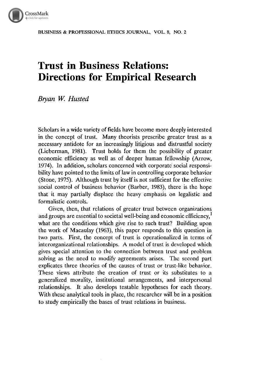 Chapter 10: Writing the Research Paper