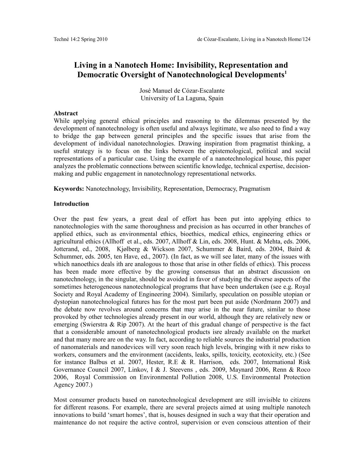 Scientific Paper Format Example