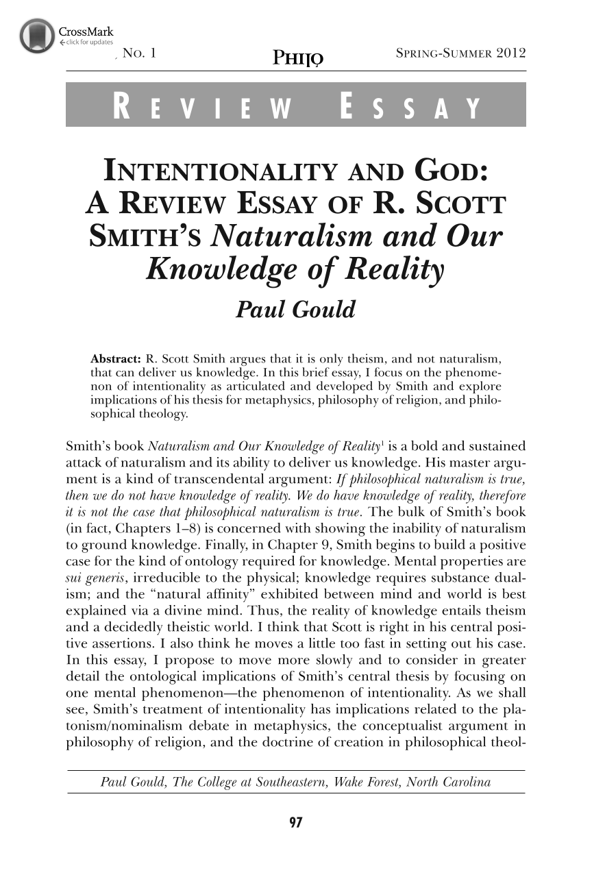 Intentionality And God A Review Essay Of R Scott Smiths  Document Is Being Loaded