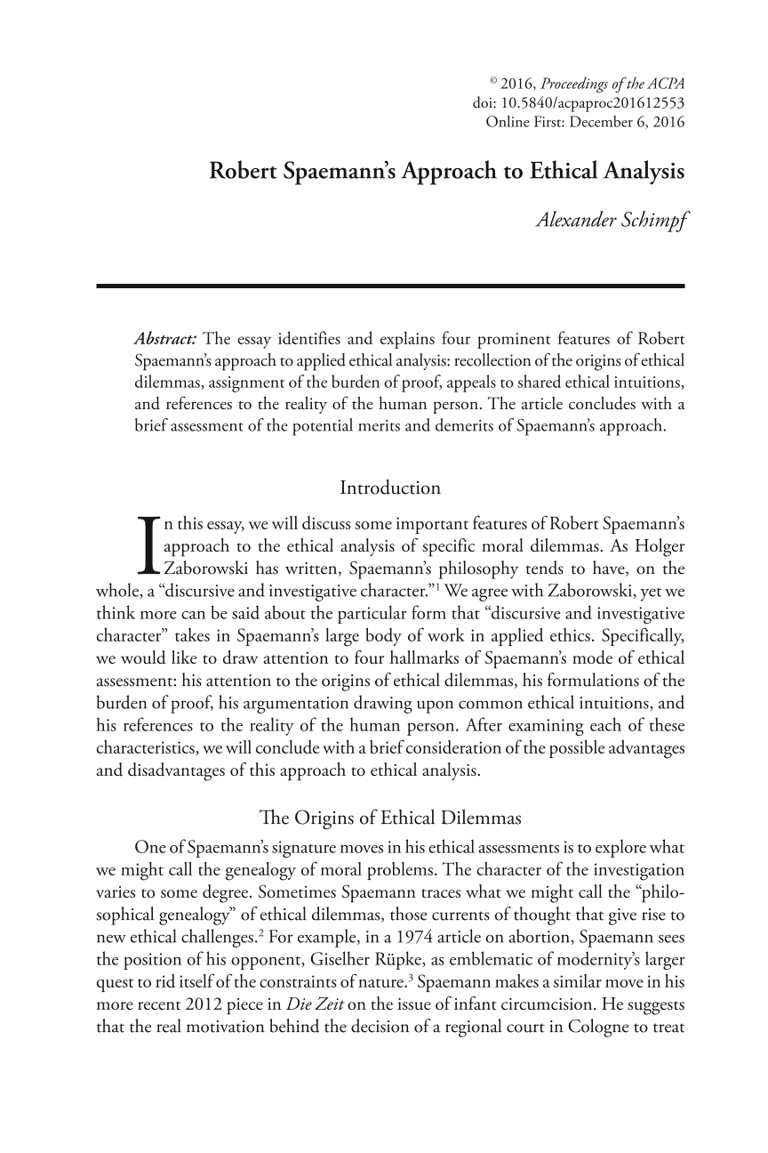 robert spaemann s approach to ethical analysis alexander schimpf document is being loaded