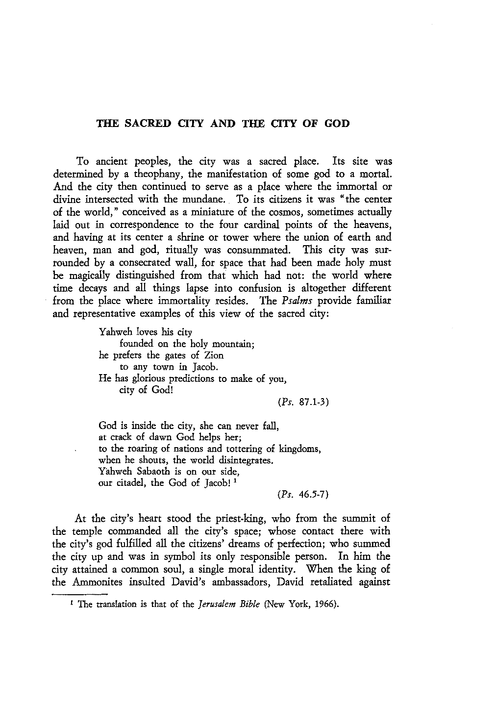 The Sacred City and the City of God - James Dougherty - Augustinian
