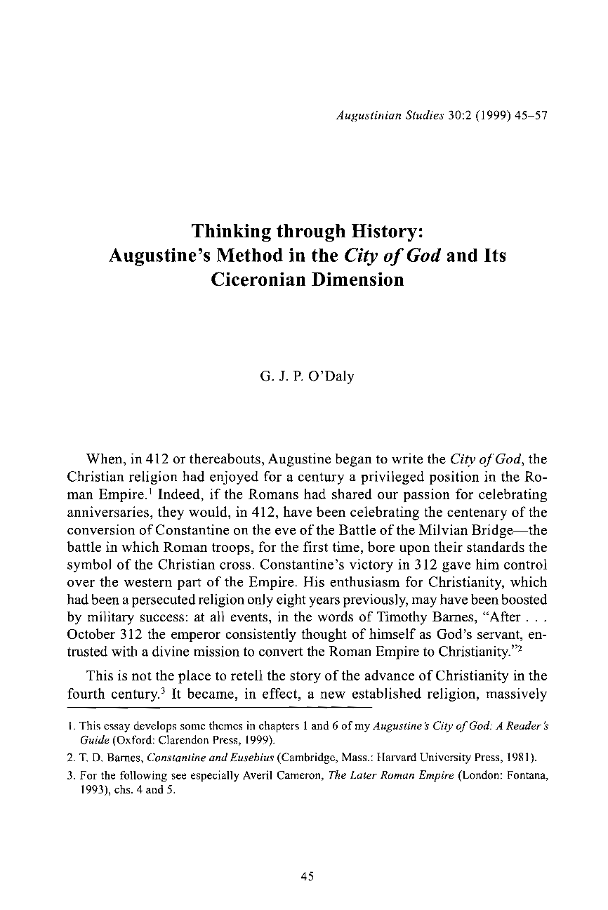 Argumentative Essay Thesis Document Is Being Loaded  Topics For An Essay Paper also Help Me To Do My Assignment In Singapore Thinking Through History Augustines Method In The City Of God And  Persuasive Speech Order