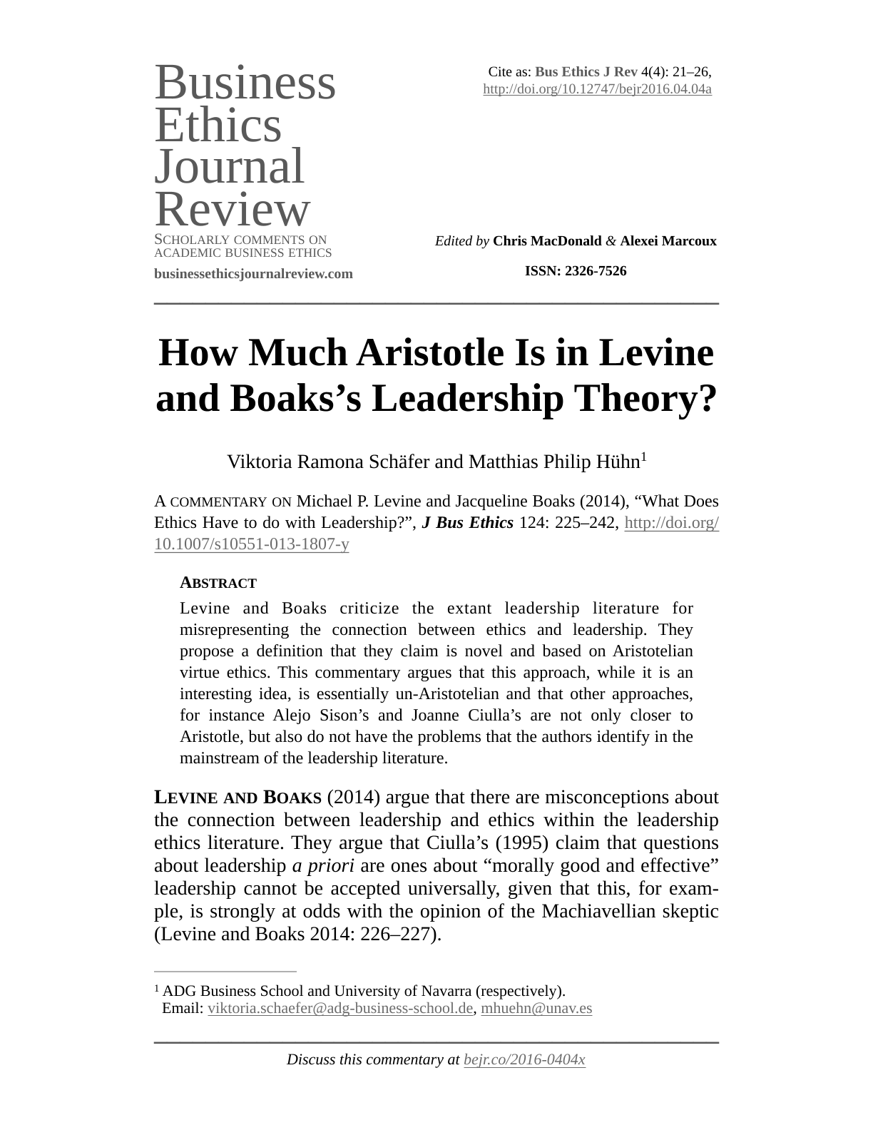 Literature review for leadership theories