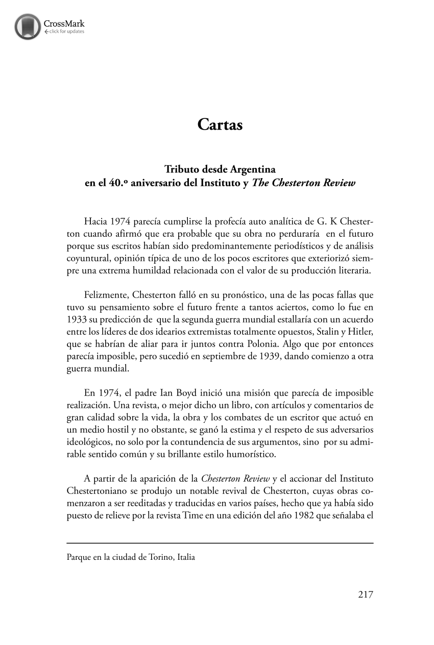Cartas - - The Chesterton Review en Español (Philosophy Documentation  Center)
