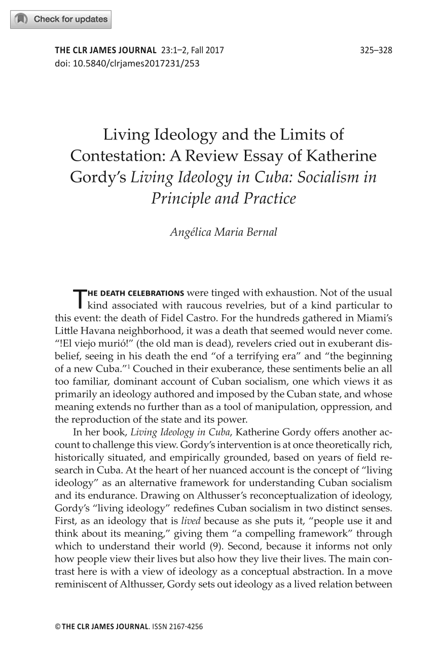 living ideology and the limits of contestation a review essay of  document is being loaded