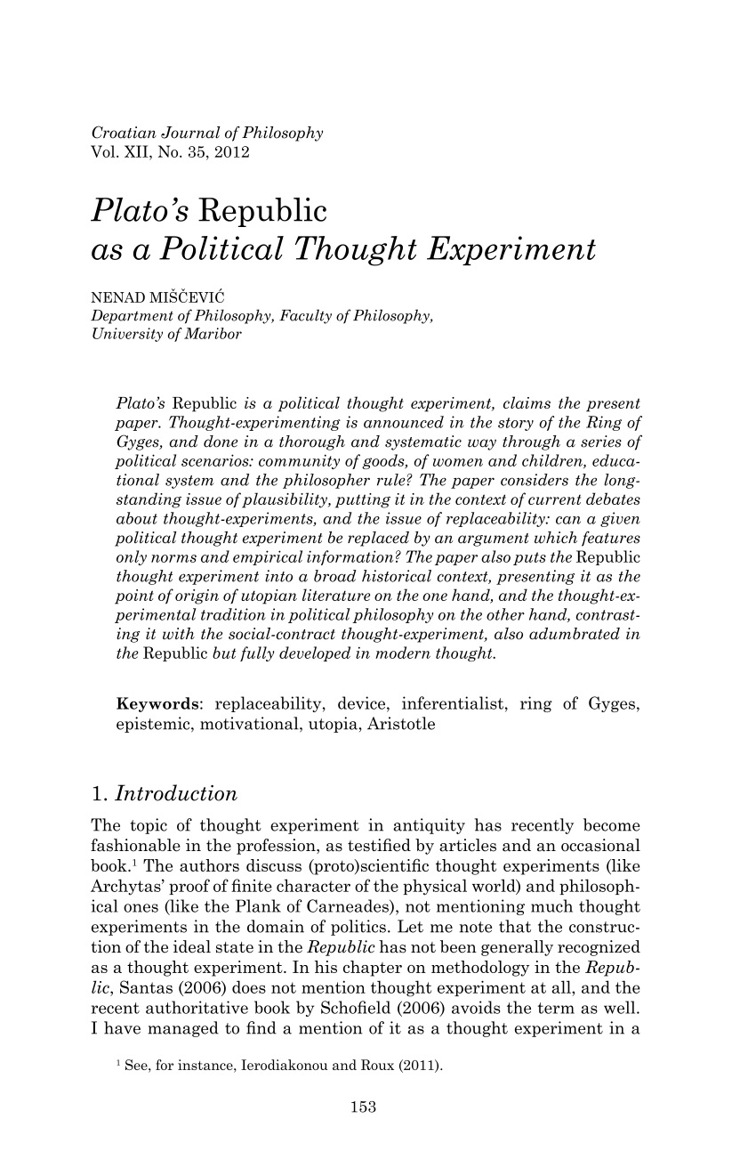an analysis of ancient political thought in republic by plato By taking issue with his analysis of which review of morag buchan, women in plato's political theory, ancient philosophy plato, the republic.