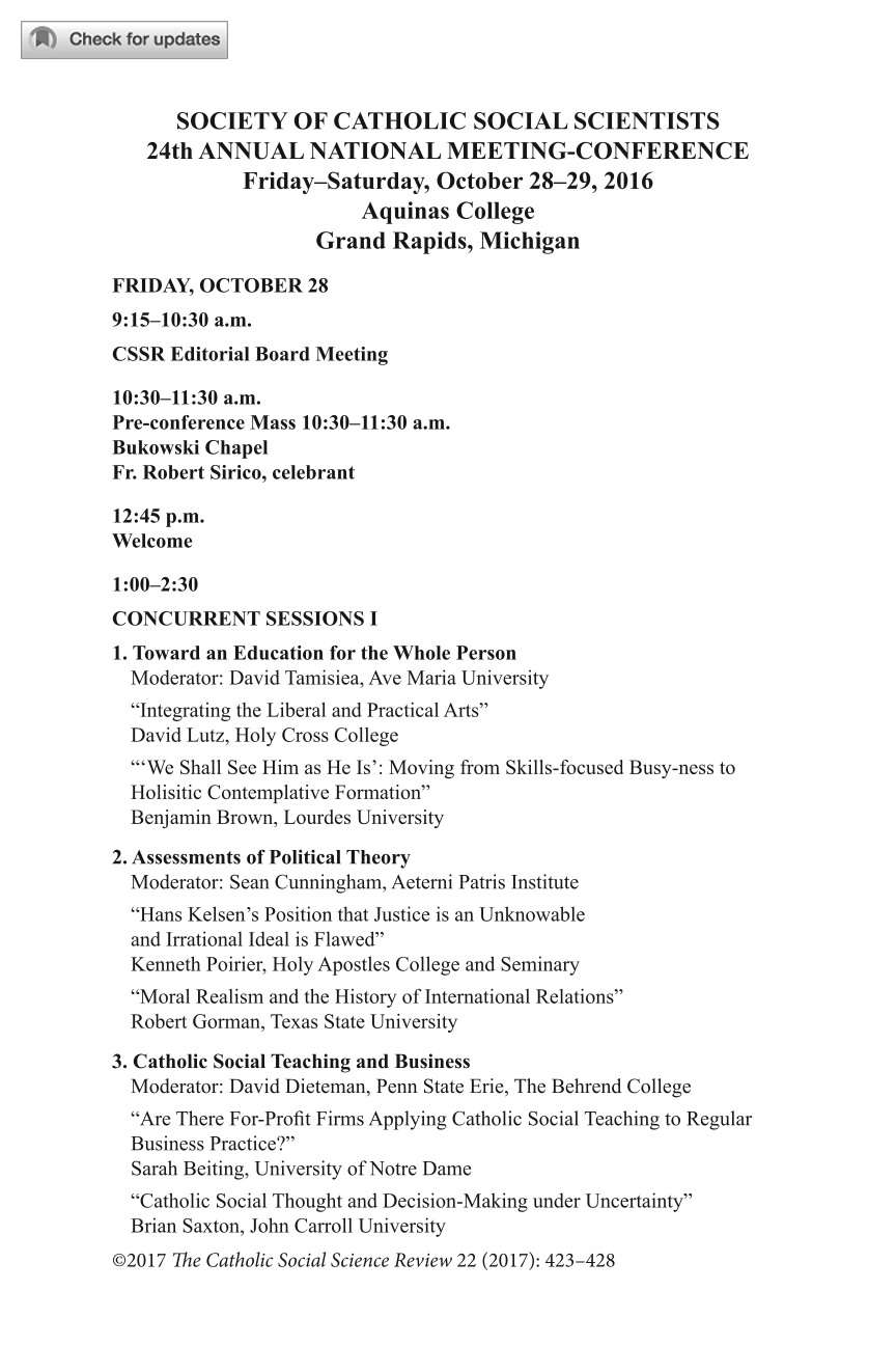 24th Annual National Meeting-Conference Schedule