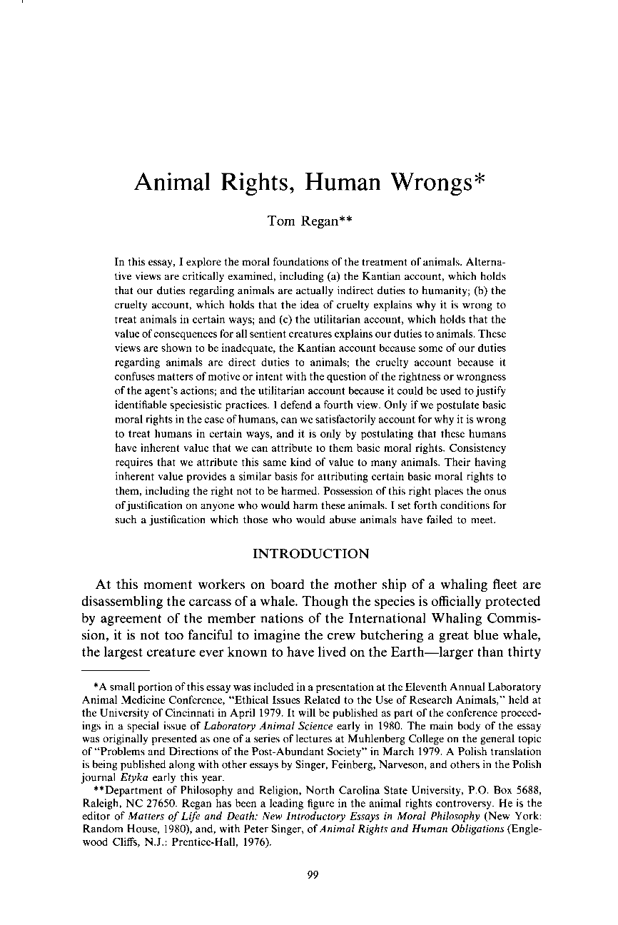 Animal rights essay topics