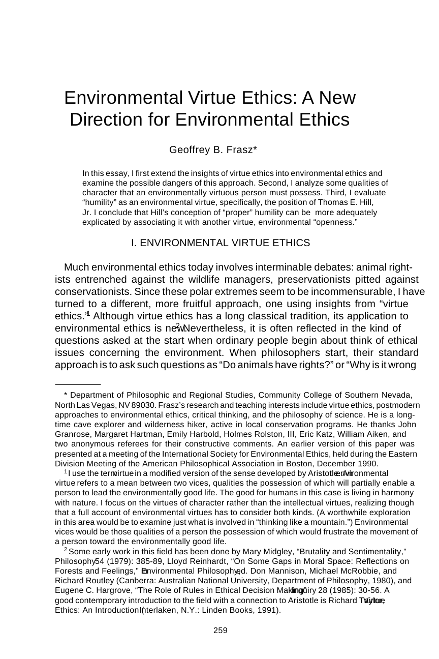 environmental virtue ethics a new direction for environmental document is being loaded
