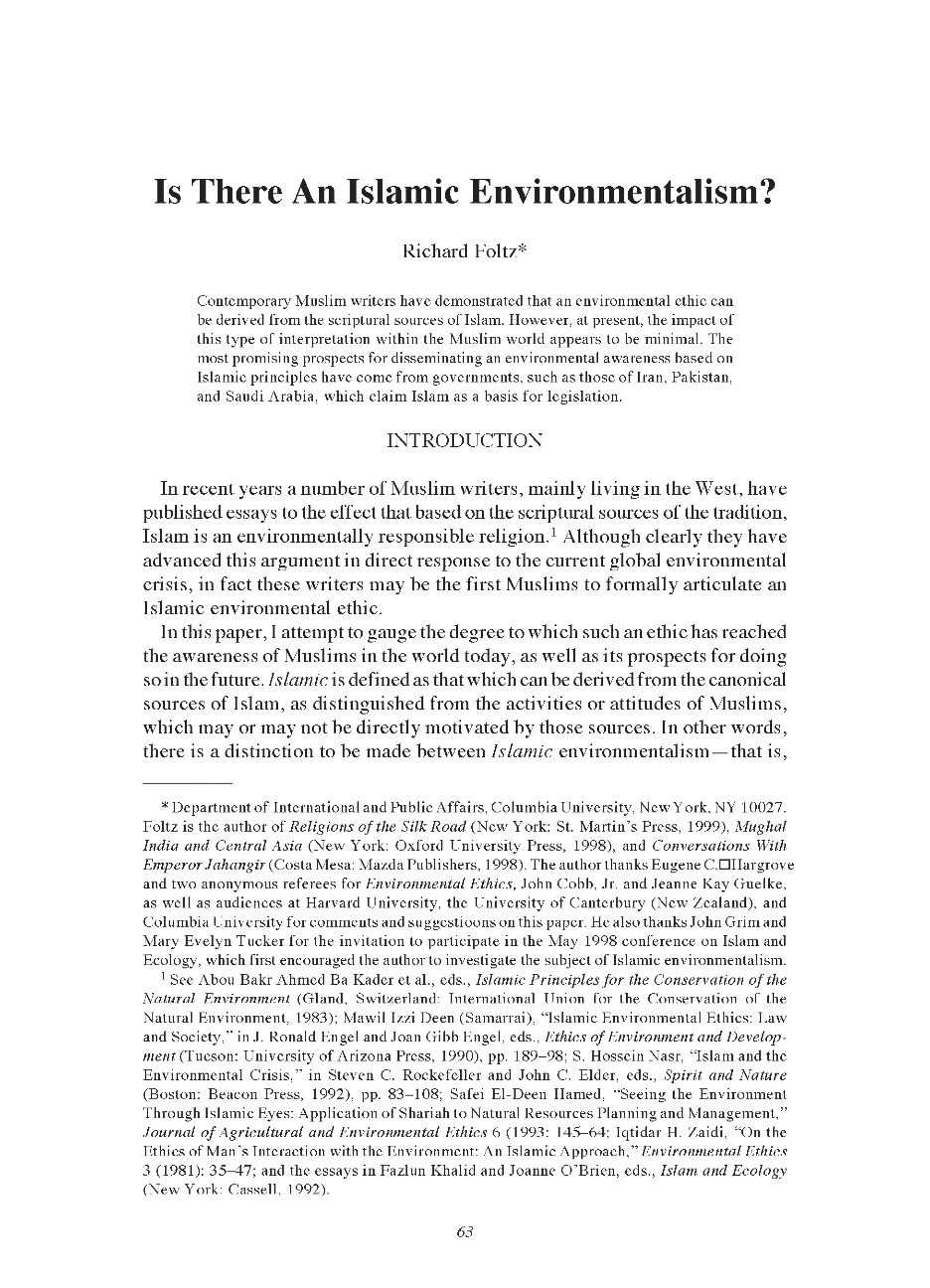 from western to asian environmental ethics essay