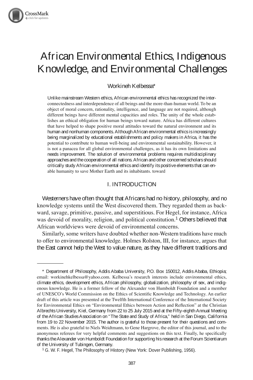 african environmental ethics indigenous knowledge and  document is being loaded
