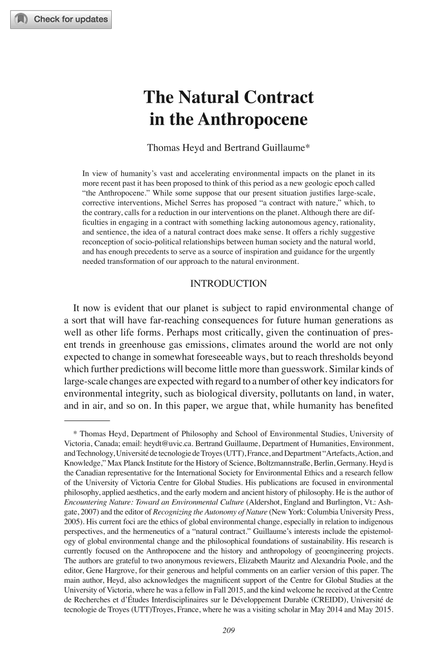 the natural contract in the anthropocene thomas heyd bertrand document is being loaded