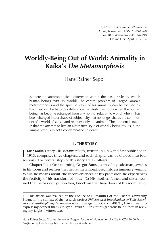 when was the metamorphosis written