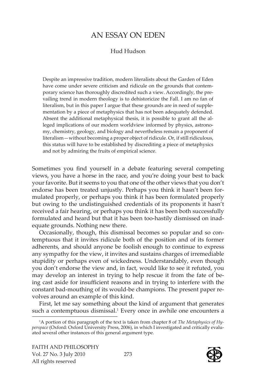paragraph on faith