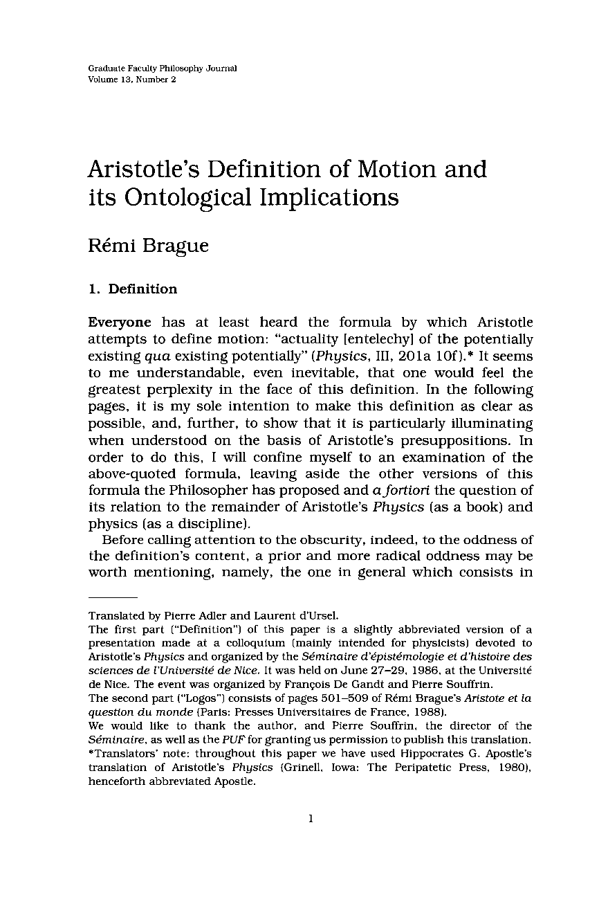 aristotle theory of motion