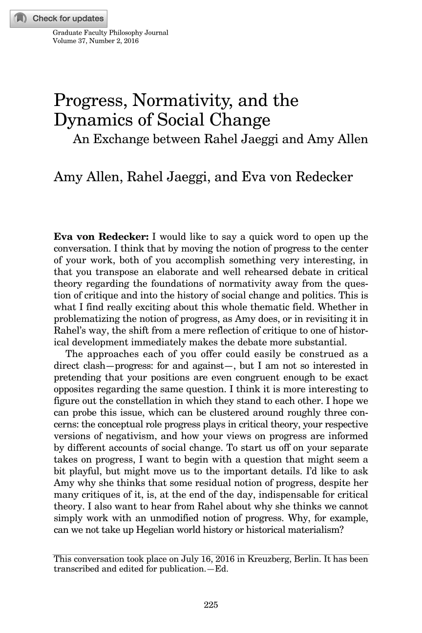 progress normativity and the dynamics of social change an  document is being loaded