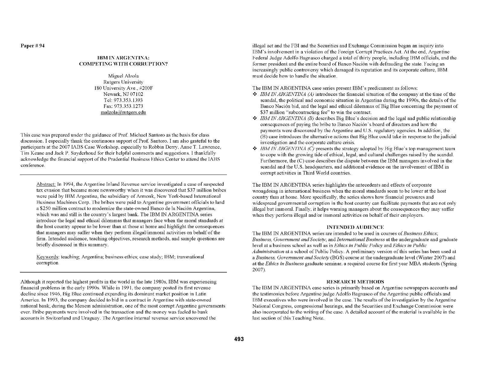 International business in focus essay