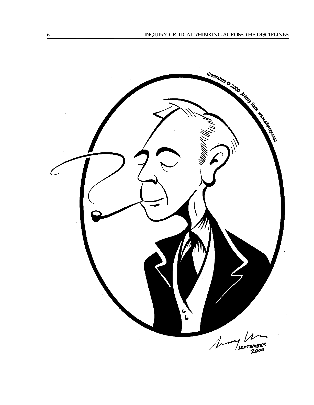 Russell Caricature - Antony Hare - Inquiry: Critical