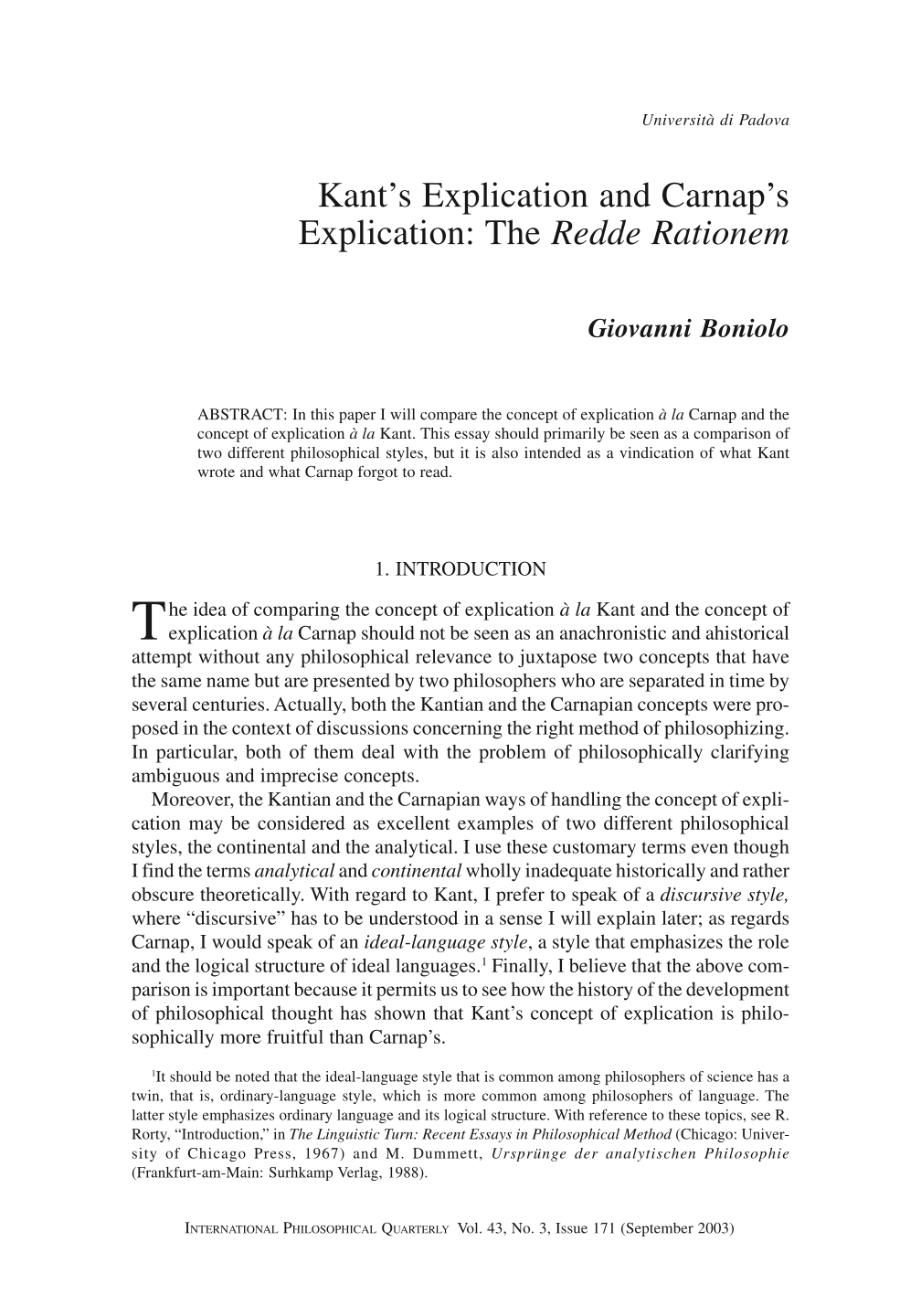 kant s explication and carnap s explication the redde rationem document is being loaded