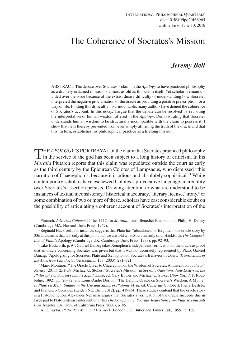 the coherence of socrates s mission jeremy bell international document is being loaded