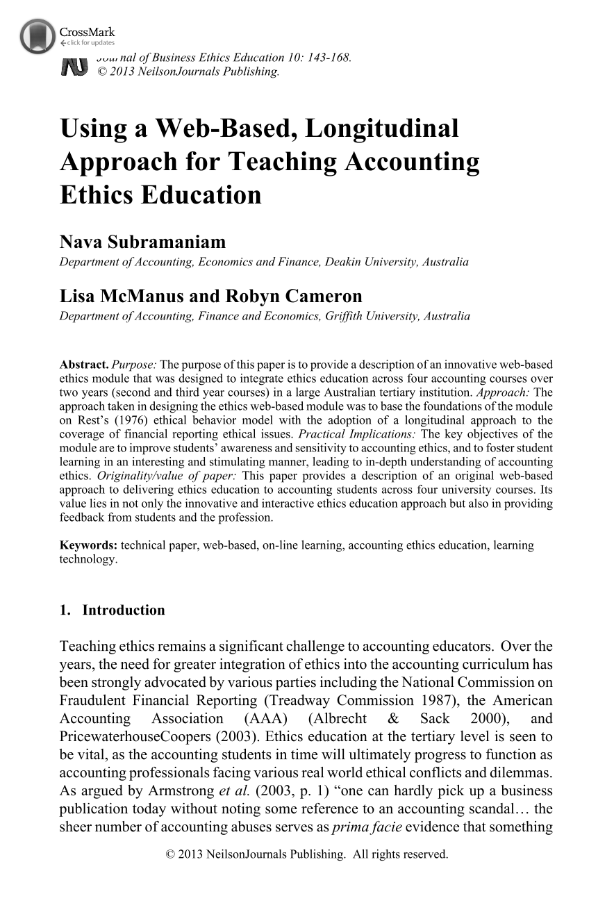 using a web based longitudinal approach for teaching accounting  document is being loaded