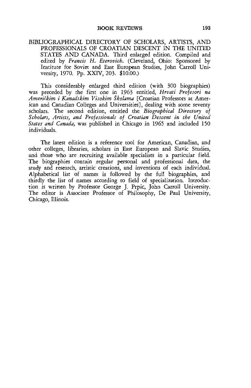 Bibliographical Directory of Scholars, Artists, and