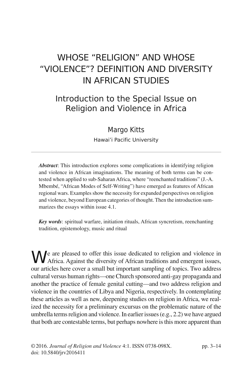 "whose ""religion"" and whose ""violence"" definition and diversity in  document is being loaded"