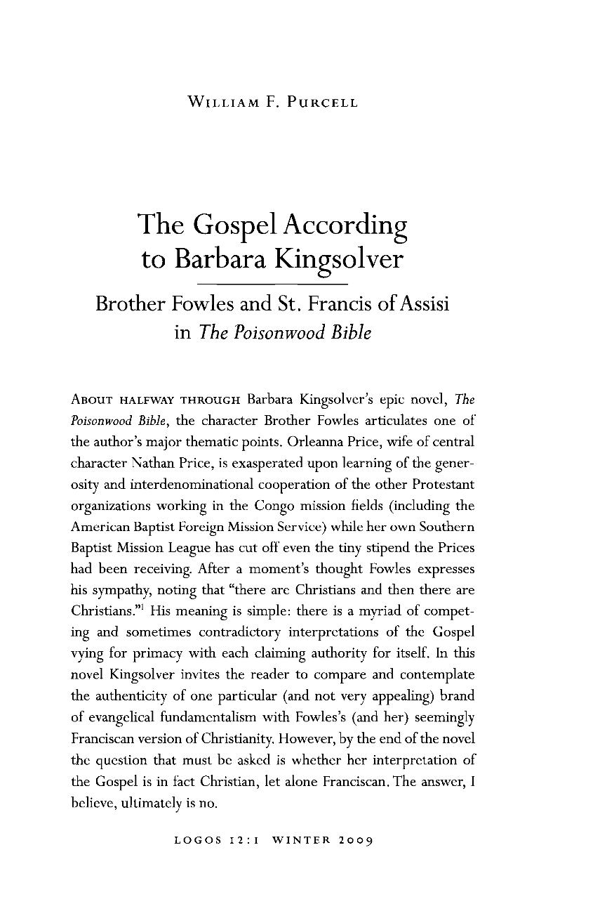 poisonwood bible missionary work Get this from a library the poisonwood bible : a novel [barbara kingsolver] -- the drama of a us missionary family in africa during a war of decolonization at its center is nathan price, a self-righteous baptist minister who.