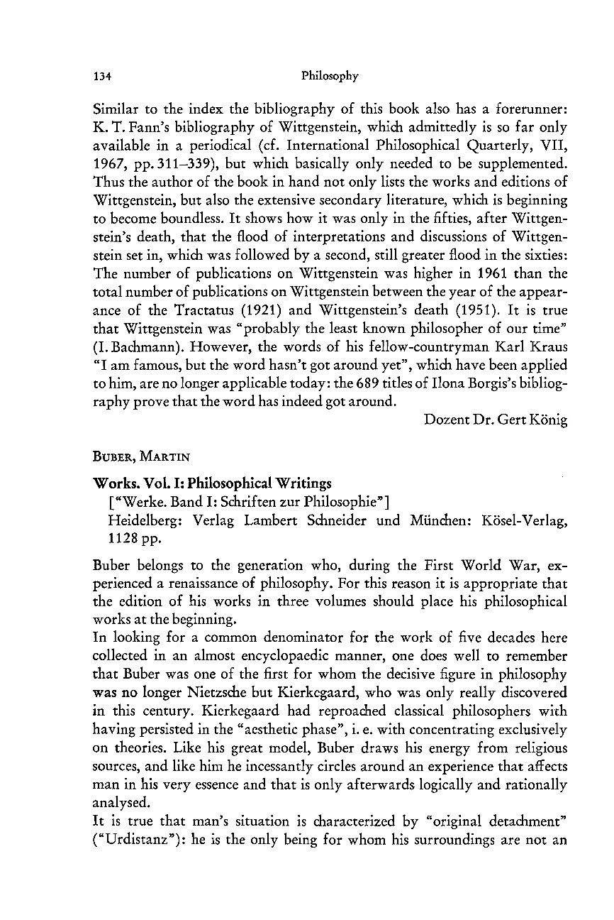 Works - Michael Landmann - Philosophy and History
