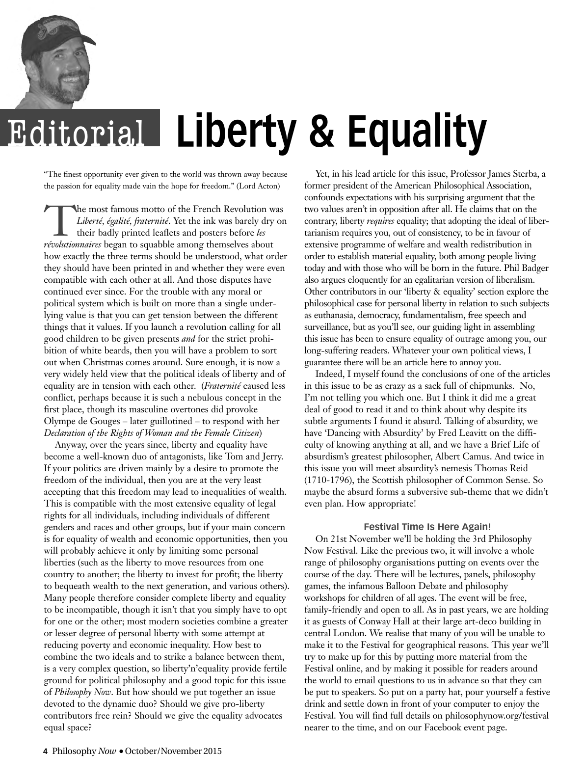 Liberty and Equality - Rick Lewis - Philosophy Now