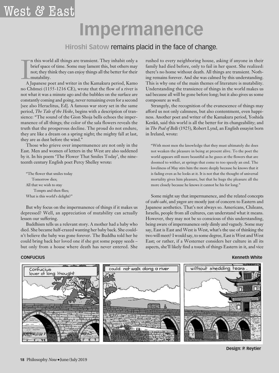 Impermanence - Hiroshi Satow - Philosophy Now (Philosophy