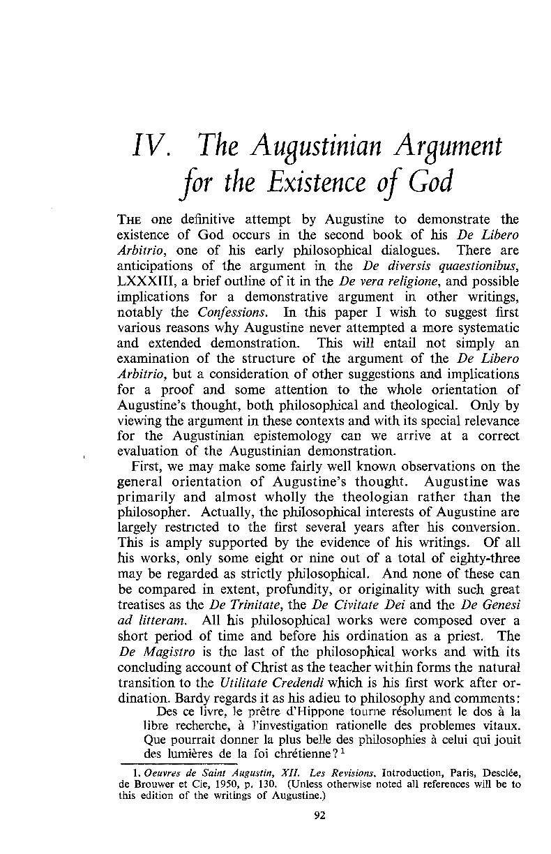 Philosophical Arguments For The Existence Of God