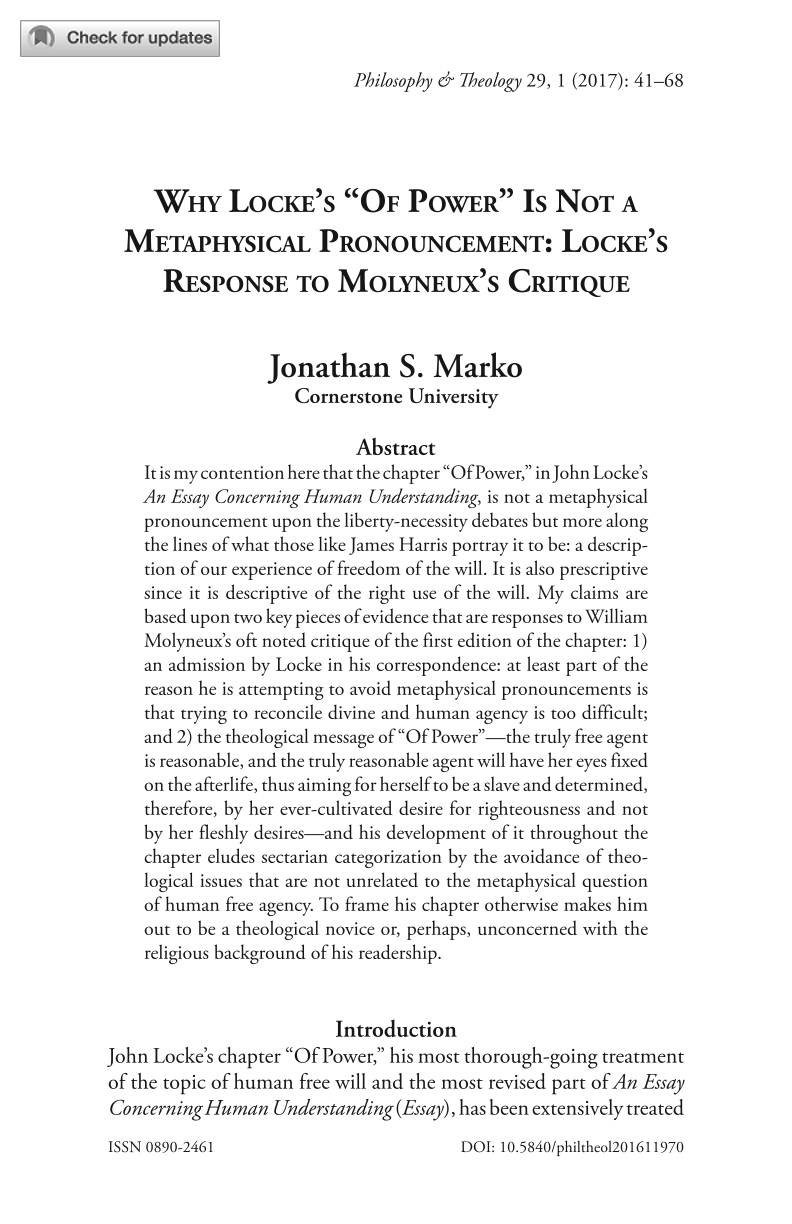 why locke s of power is not a metaphysical pronouncement document is being loaded