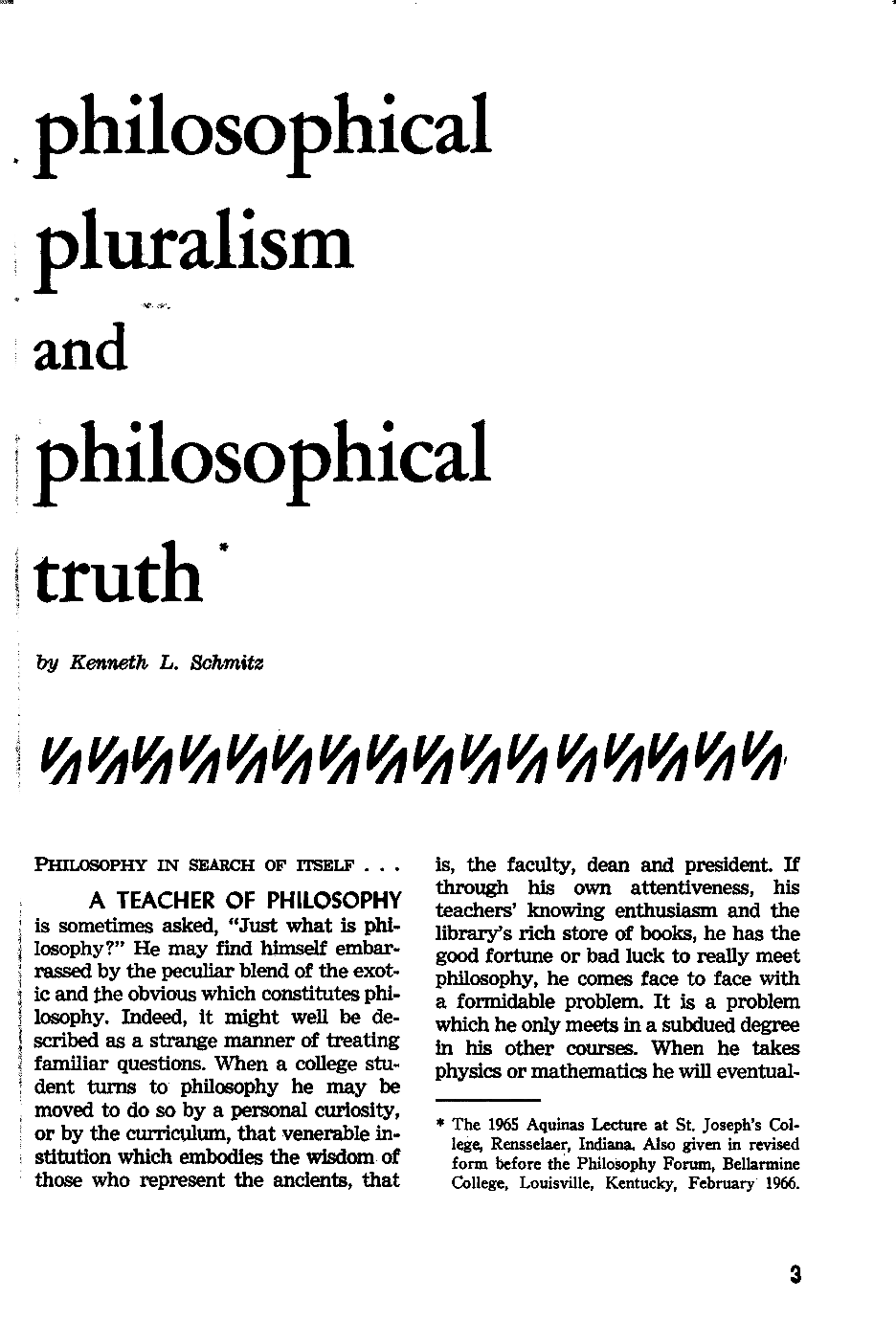 Philosophical Pluralism and Philosophical Truth - Kenneth