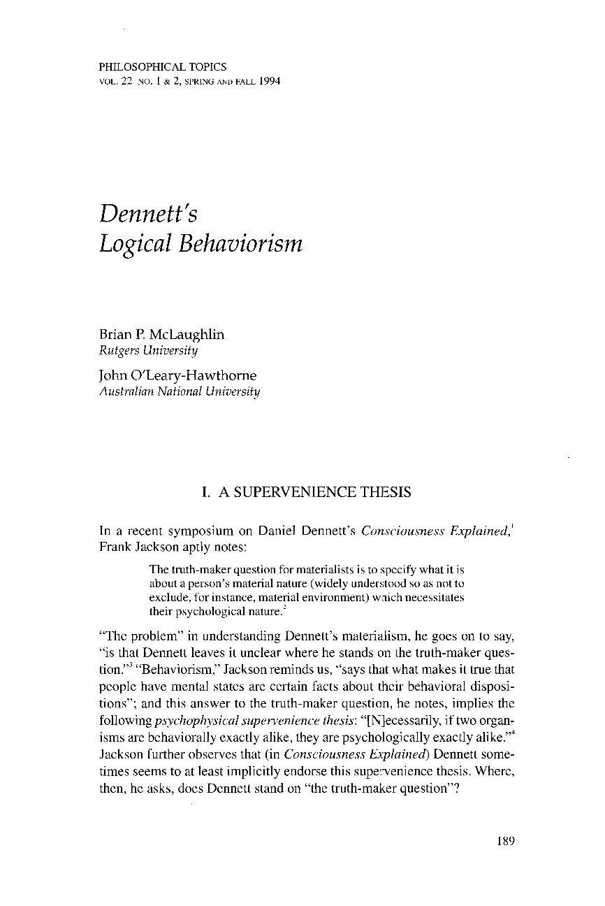 logical behaviorism Behaviorism precedes the cognitivist worldview it rejects structuralism and is an extension of logical positivism radical behaviorism developed by bf skinner.