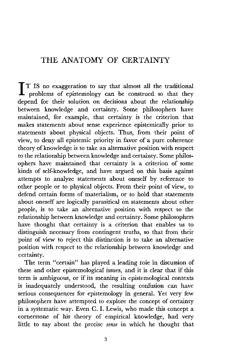 The Anatomy of Certainty - Roderick Firth - The Philosophical Review ...