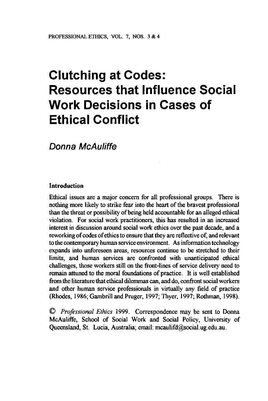 term paper social work ethics