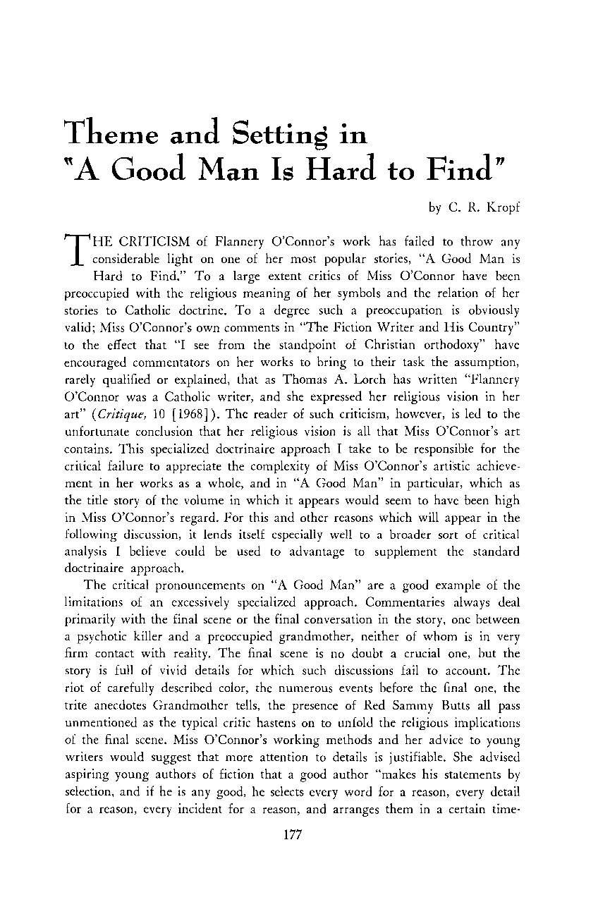 a good man is hard to essays a good man is hard to essay on a good man is hard to findtheme and setting in quot a good man