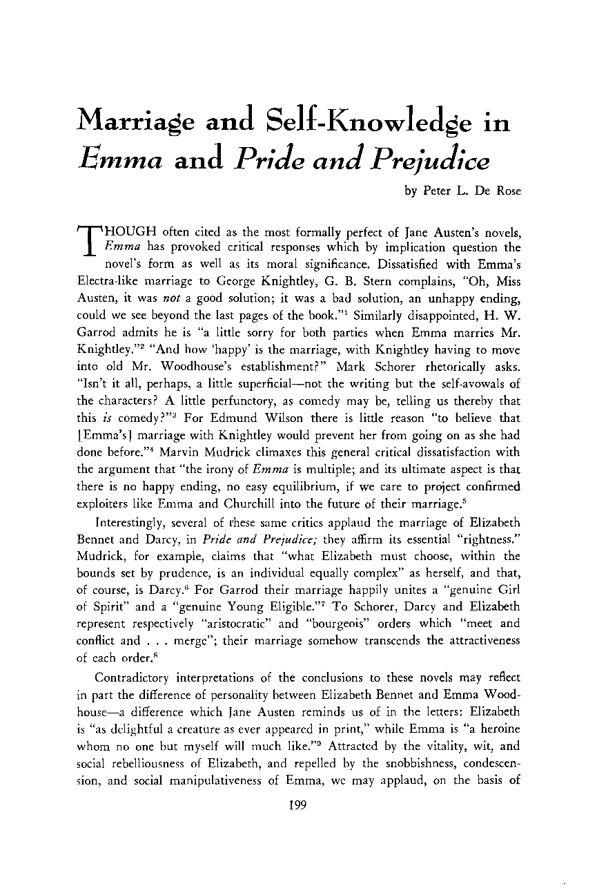 marriage and self knowledge in emma and pride and prejudice document is being loaded