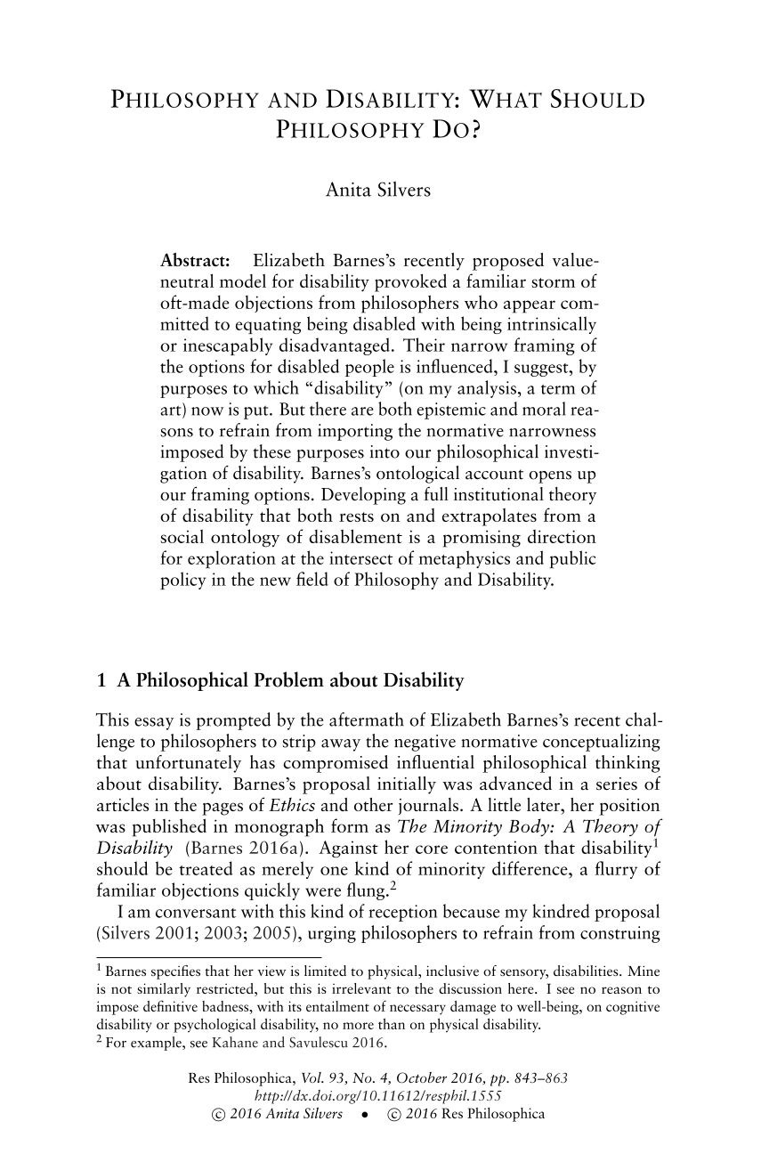 philosophy and disability what should philosophy do anita  document is being loaded