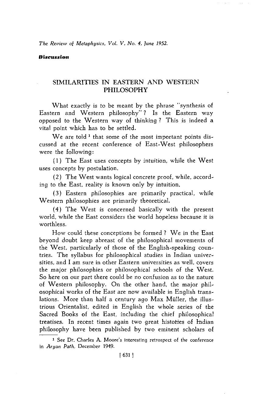 similarities between eastern and western philosophy