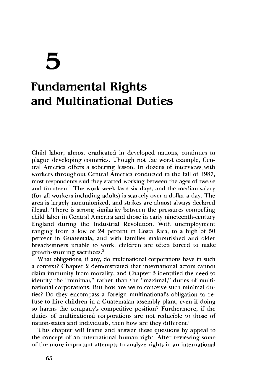 """multinational corporations and moral obligation Analysis of """"moral minimums for multinationals"""" by thomas donaldson relations between people of various cultures inside multinational corporations."""