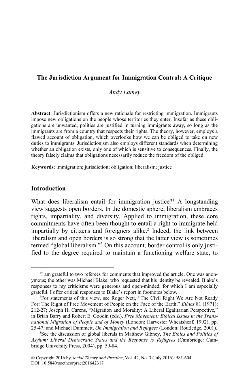 the jurisdiction argument for immigration control a critique  document is being loaded