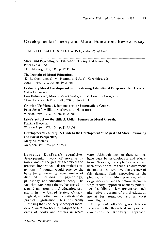 Moral education essay