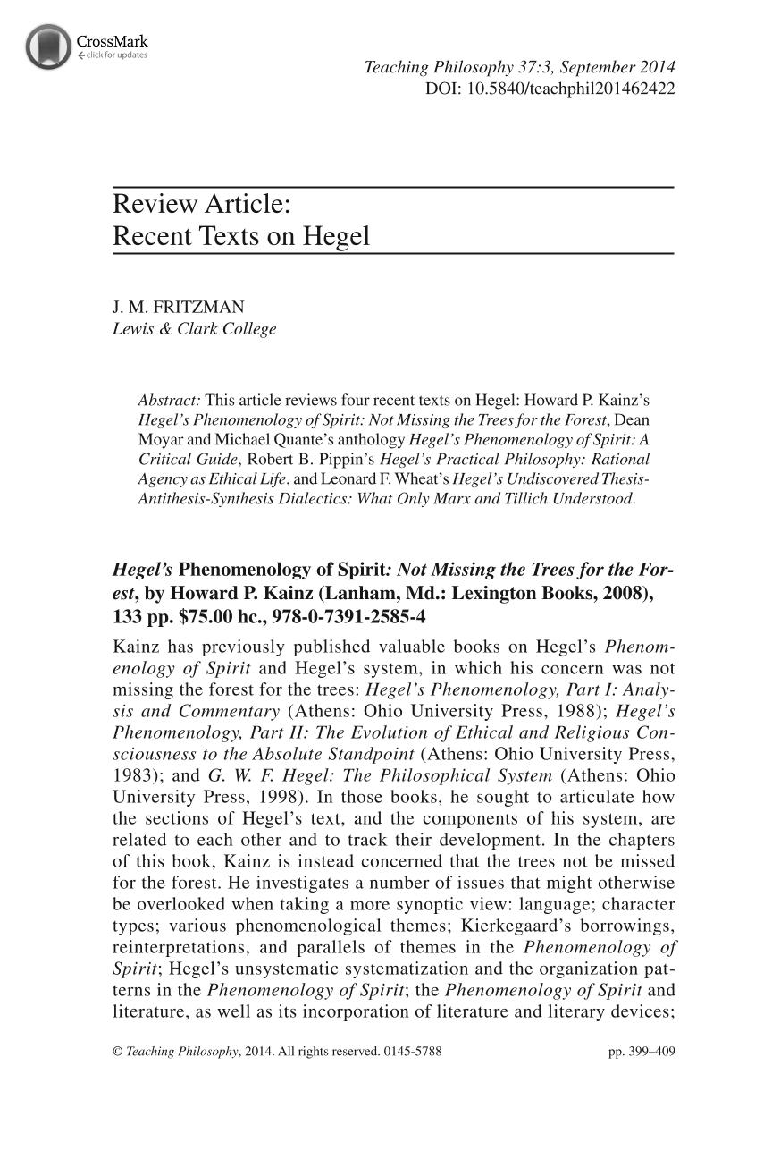 philosophy of nature hegel pdf