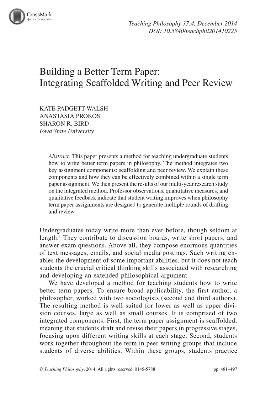 building a better term paper integrating scaffolded writing and document is being loaded