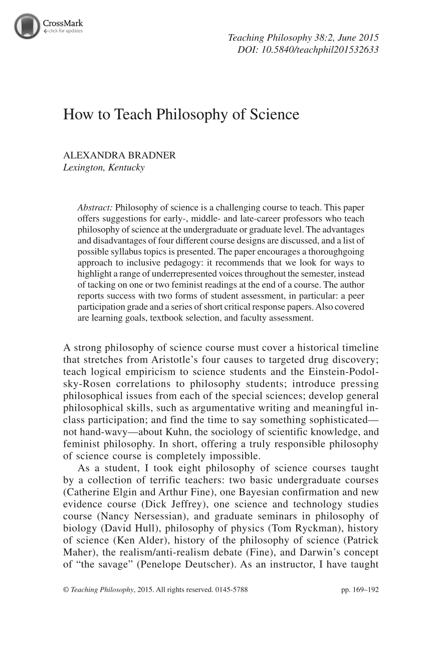 how to teach philosophy of science alexandra bradner teaching  document is being loaded