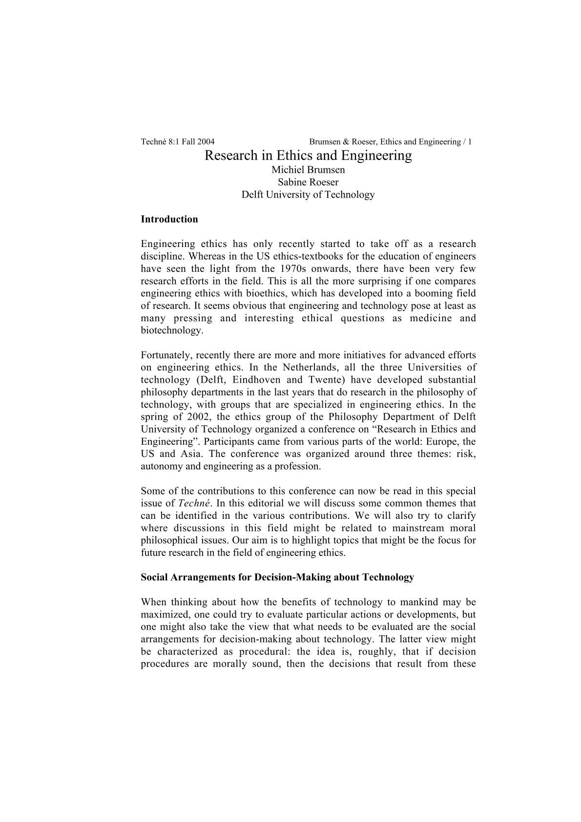 engineering ethics essay examples
