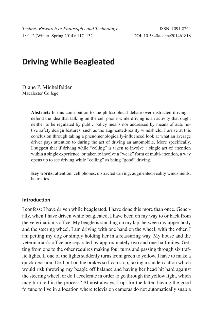 research paper on cell phones and driving