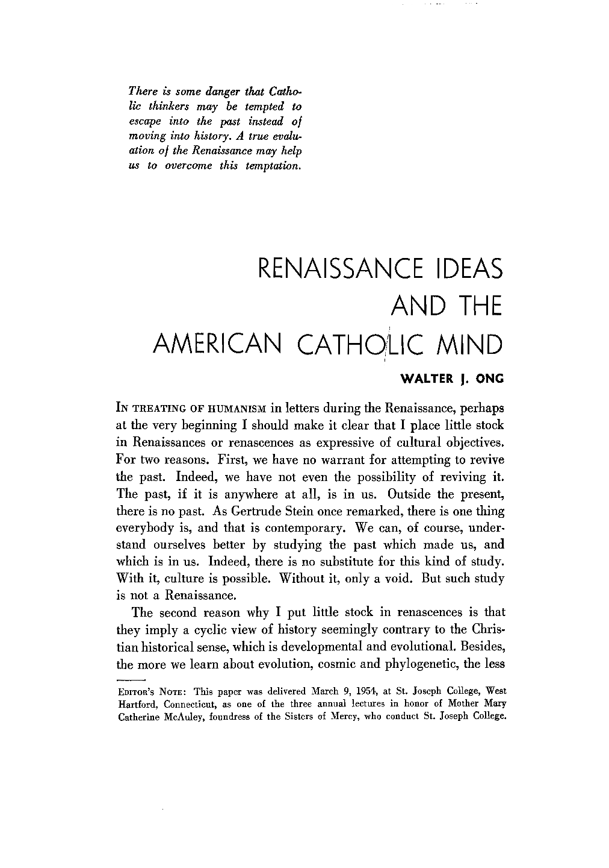 renaissance ideas